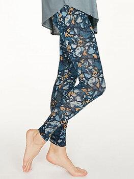 Bambu Leggings Majolica Blue med print