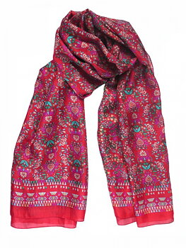 Silk Scarf Liberty Red