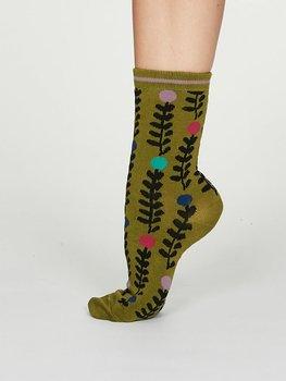 Keira bamboo socks green