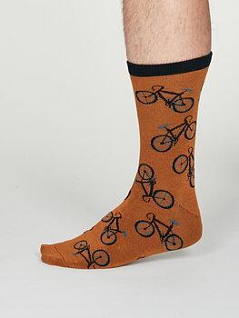 Wesley bamboo bicykle socks amber yellow