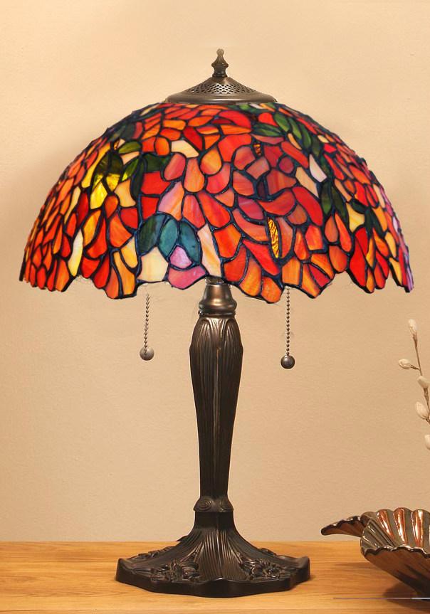 Tiffanylampa Bordslampa Laburium Ø 41cm