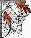 Stained glass window Spider corner