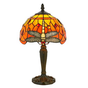 Tiffanylampa Bordslampa Dragonfly Ø 20cm