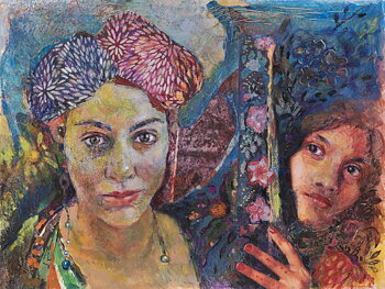 Maria Papafili - Erato and Elham (Tzigane, Asia), digital print