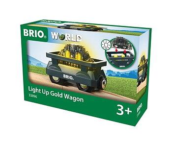 Brio - Fraktvagn med Guld och Ljus