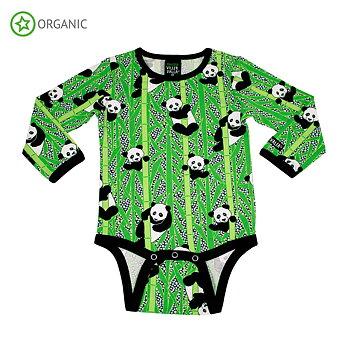Villervalla Långärmad Body - Panda
