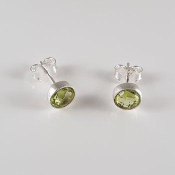 Peridotörstick, cab, fas. 925-silver