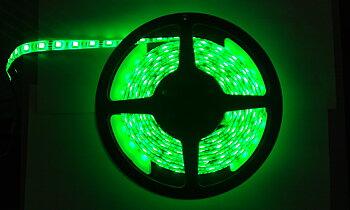 LED List/strip 3528 Grön, IP65