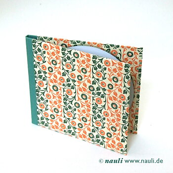 CD/ DVD Hülle floral grün orange
