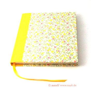 Poesiealbum / Tagebuch / Freundschaftsbuch Blumenregen gelb rosa