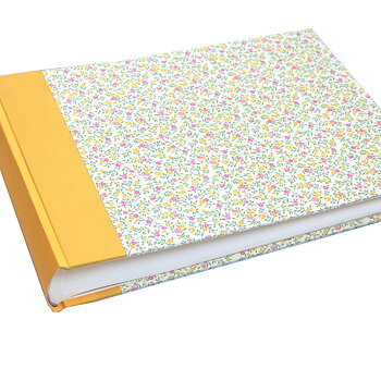 Photo Album XL Flower Rain yellow pink 50 sheets / 100 pages