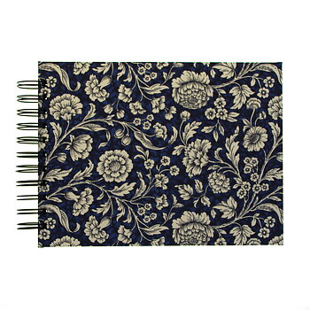 Photo Album blue Renaissance Flowers - small