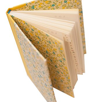 Address Book A6 Flower Rain blue yellow