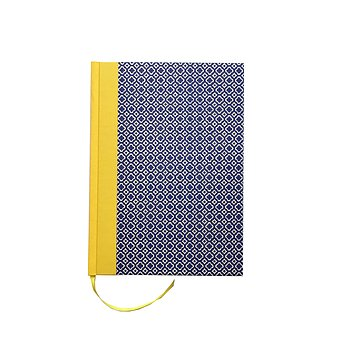large Weekly Planner 2020 DinA5 quatrefoil blue yellow