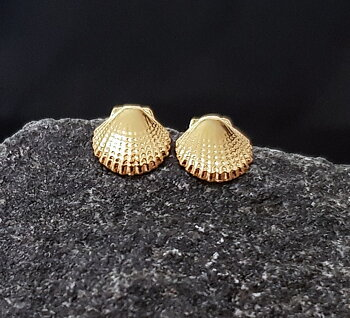 Örhängen snäckor - Guld - Sterling silver 925