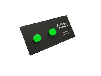 NEON TOXIC GREEN - Silver/acryl