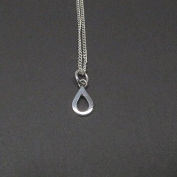 H2O PYTTE necklace - polished silver
