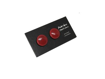 DOT earring - darkred