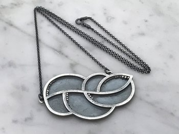 LEAFY halsband, one-of-a-kind, silver