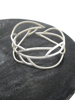 LEAFY armband - one-of-a-kind, borstat silver