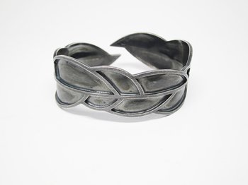 LEAFY bracelet - one-of-a-kind, ox silver
