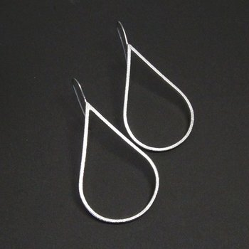 H2O Earring 1pair - frosted silver