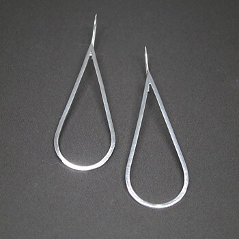 H2O Earring 1pair - polished silver