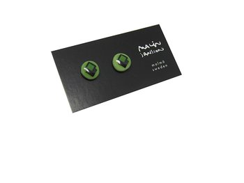 DOT earring - Green/black