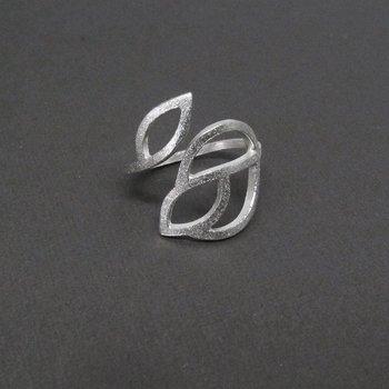 LEAFY ring - matterat silver