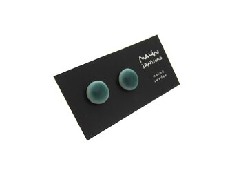 Glossy earrings - Peacook Green