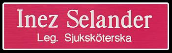 Namnskylt rektangulär i plastlaminat -317 rosa/vit
