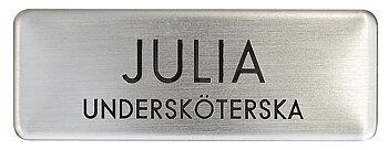 Namnskylt rektangulär i mässing - 333 silver/svart