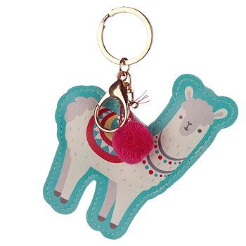 Nyckelring Konstläder Lama