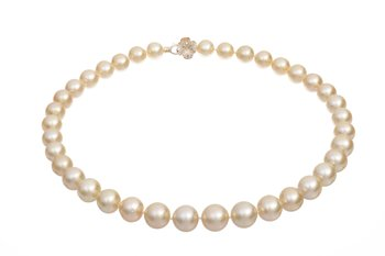 South Sea pearl necklace in shimmering golden tones
