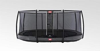 Studsmatta BERG InGround Grand Champion 520x345 Grey oval Airflow + skyddsnät Deluxe
