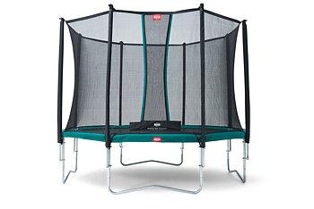 Studsmatta BERG Favorit Grön 430 + skyddsnät Comfort