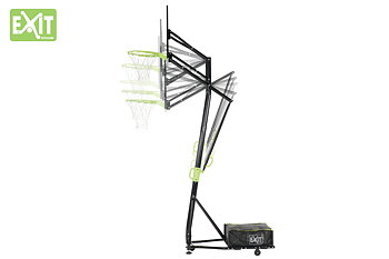 EXIT basketkorg  Galaxy portable on wheels - black edition