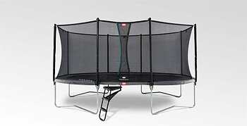 Studsmatta BERG GRAND Favorit Grå 520 OVAL + skyddsnät Comfort