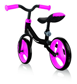 GLOBBER Balanscykel GO Bike Svart/Rosa