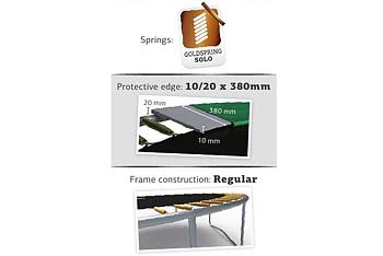 Studsmatta BERG InGround Favorit 330 + skyddsnät Comfort