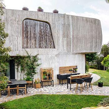 Litet Växthus mot vägg, Cane-line