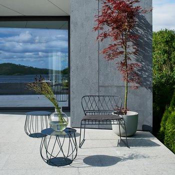 Resö lounge bord grå metall, Skargaarden