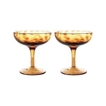 Champagne Saucer (Set of 2) Tortoise - &Klevering