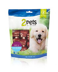 2pets Duck & Fish Cubes 400g