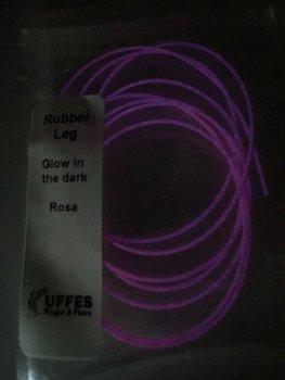 Gummiben Glow in the dark  Rosa (Micke Lindström)