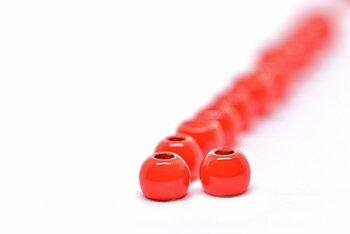 FF Brass bead Fl.Red