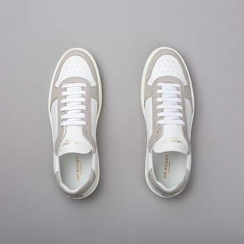 WING - VEGAN SUEDE/VEGAN LEATHER - WHITE/LT.GREY