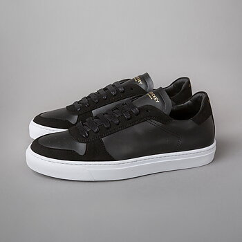 WING - VEGAN SUEDE/VEGAN LEATHER - BLACK