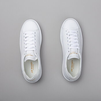 DEUCE COURT WMN - LEATHER/SUEDE - WHITE