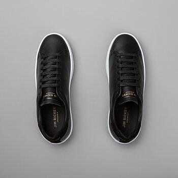 DEUCE COURT WMN - LEATHER/SUEDE - BLACK